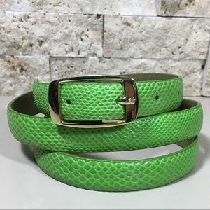 Vintage Talbots Green Leather Belt Size L
